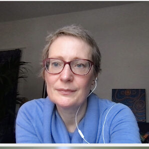 photo of mia on a video call